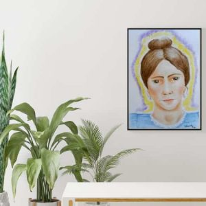To showcase Spirit Guide Portrait in home setting