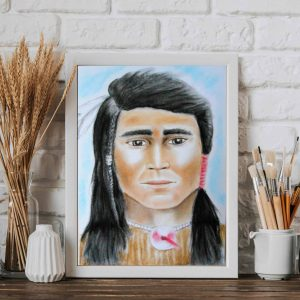 To showcase Spirit Guide Portrait in frame in a home setting